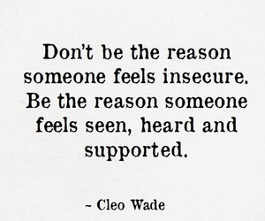 feels, insecure, and quote image