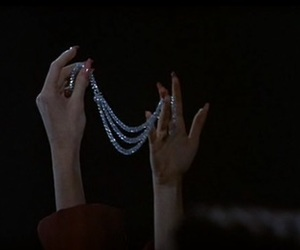 dark, nails, and diamond image