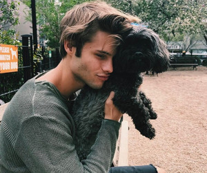 boy, dog, and animal image