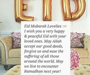 eid, eid mubarak, and eid ul fitr image