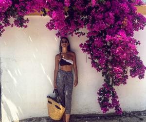 Calvin Klein, fashion girl, and flower image