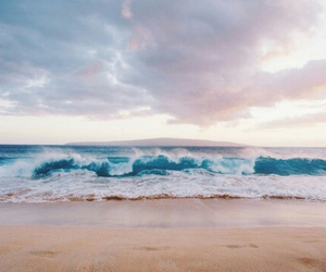aesthetic, beach, and waves image
