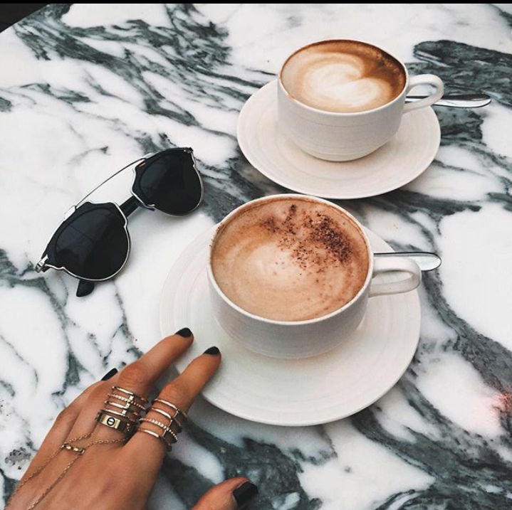 coffee, snowy, and drinks image