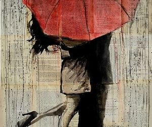 love, umbrella, and art image