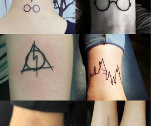 potter, tatoo, and harry image