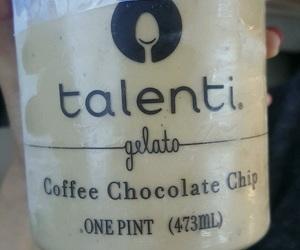 chocolate chip, talenti, and coffee image