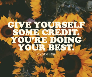 inpiration, quotes, and sunflowers image