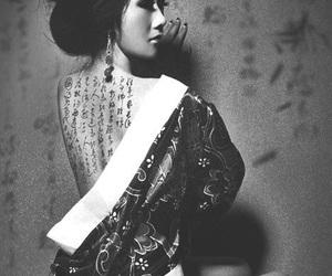 tattoo, japan, and geisha image
