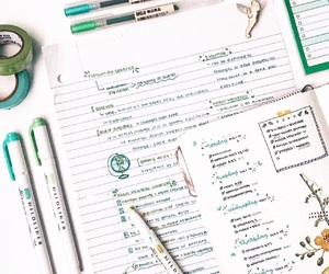 college, green, and notes image