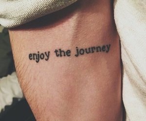 tattoo, quotes, and enjoy image