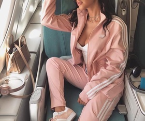 adidas, airplane, and pink image