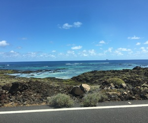 beach, blue, and lanzarote image