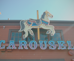carousel, seattle, and horse image