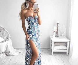blue, design, and dress image