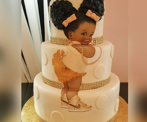 cake, puff, and baby shower image