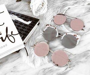 fashion, sunglasses, and pink image