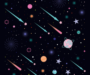 comet, galaxy, and nebula image