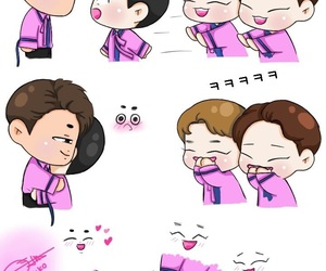 fanart, kpop, and chenmin image