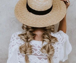summer, braids, and hair image