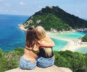 asia, backpacking, and beach image