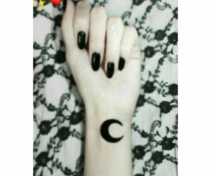 moon and tattoo image