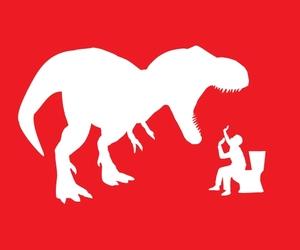 illustration, park, and t rex image