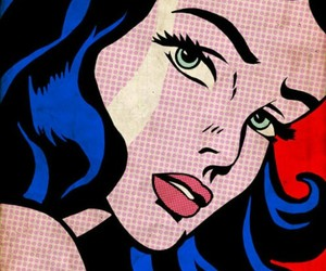 comic, pop art, and wonder woman image