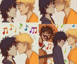 solangelo, nico di angelo, and percy jackson image