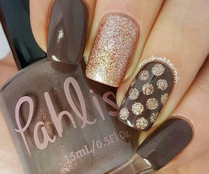 brown, nails, and art image