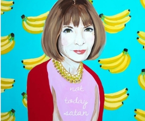 Anna Wintour, bananas, and gold image