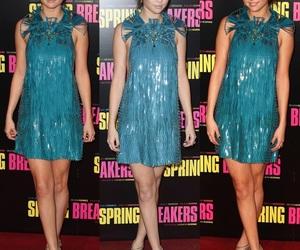 blue dress, selena gomez, and fashion image