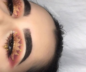 copper, brows, and rose gold image