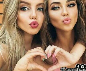 girl, friends, and makeup image
