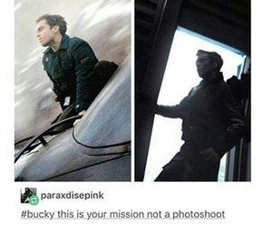 bucky barnes, Marvel, and sebastian stan image