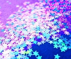 stars, glitter, and blue image
