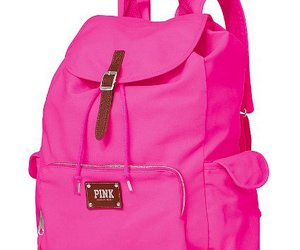 backpack, pink, and pretty image