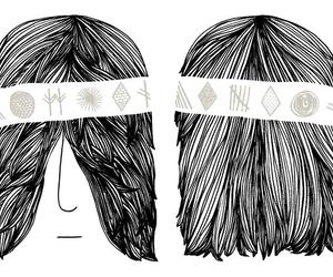 face, illustration, and headband image