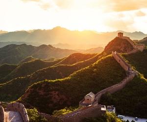 china, great wall of china, and landscape image