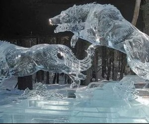 cold, sculpture, and snow image