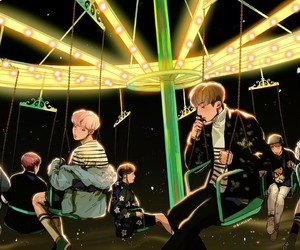 bts, fanart, and spring day image