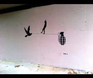 black, wall, and peac image