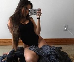 girl, claudia tihan, and mirror selfie image