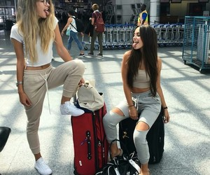 friends, travel, and bff image