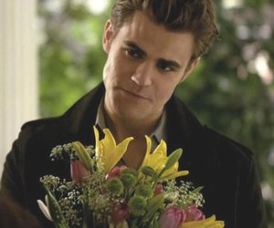 stefan, the vampire diaries, and flowers image
