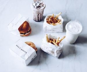 burger, food, and milkshake image