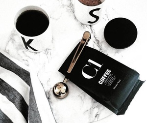 coffee, white, and black image