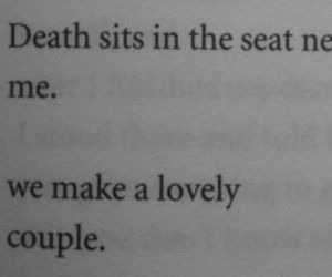 death, couple, and quotes image