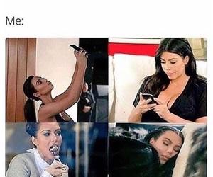 funny, kim kardashian, and eat image