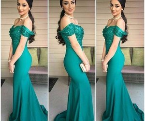 green, mermaid, and off the shoulder image