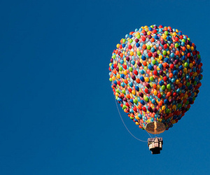 air, floating, and hot air balloon image